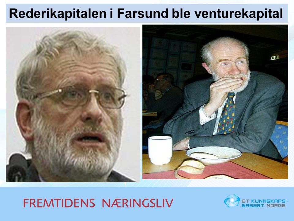 Rederikapitalen i Farsund ble venturekapital
