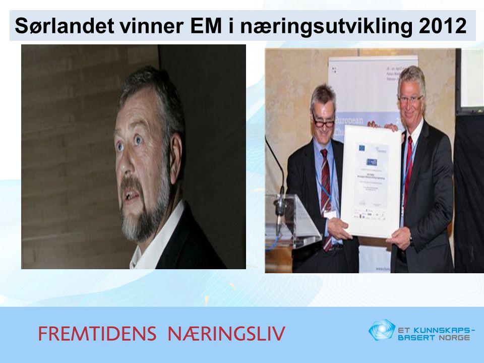 Sørlandet vinner EM i næringsutvikling 2012
