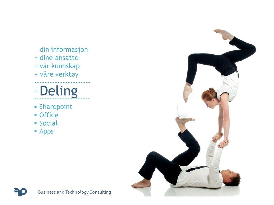 Deling din informasjon + dine ansatte + vår kunnskap + våre verktøy