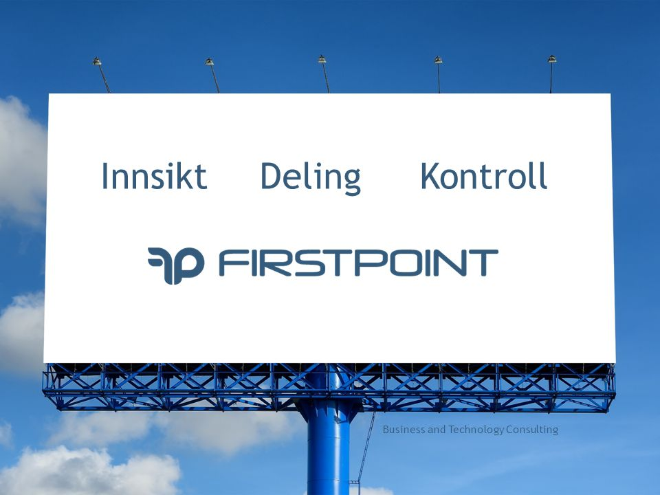 Innsikt Deling Kontroll Business and Technology Consulting