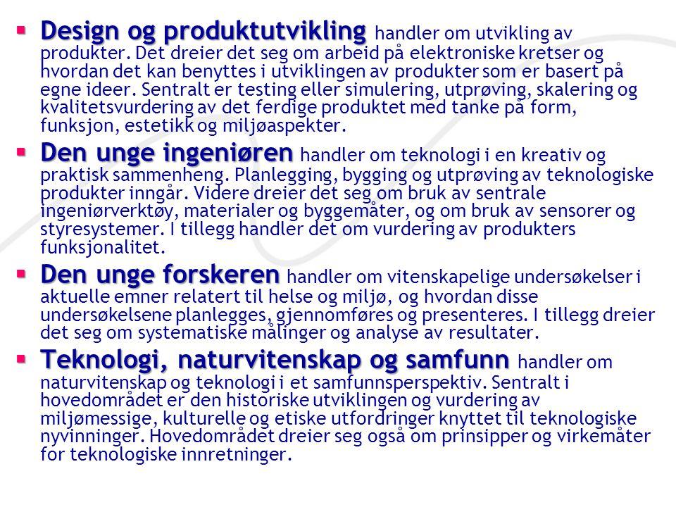 Design og produktutvikling handler om utvikling av produkter