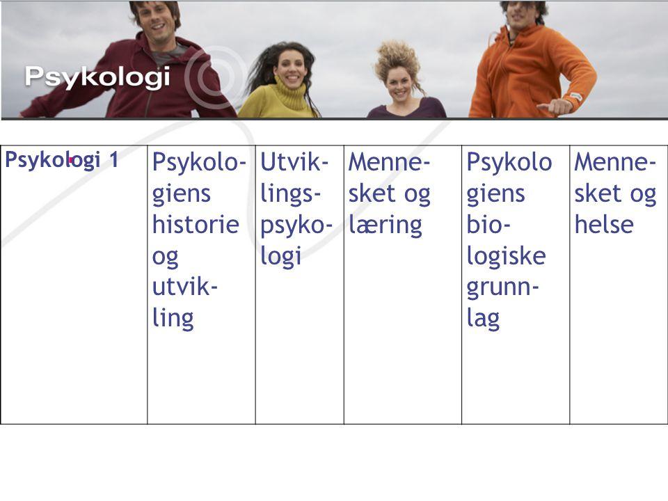 Psykolo- giens historie og utvik- ling Utvik- lings- psyko- logi