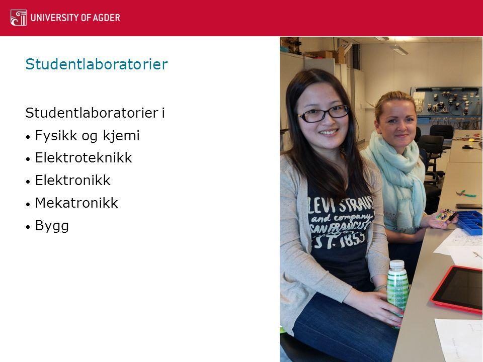 Studentlaboratorier Studentlaboratorier i Fysikk og kjemi