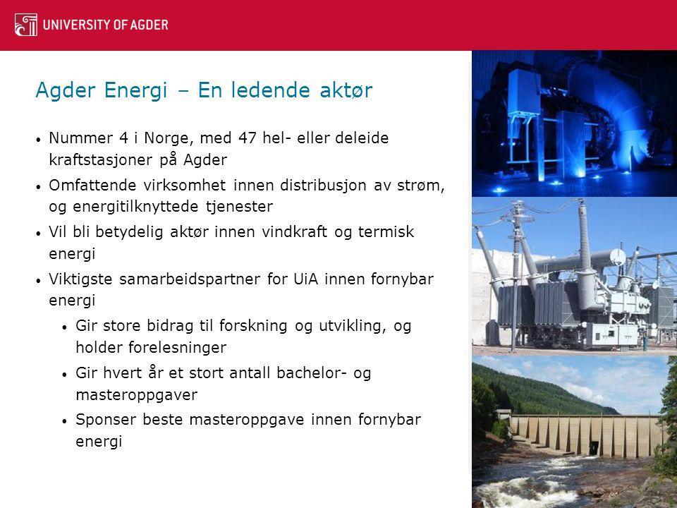 Agder Energi – En ledende aktør