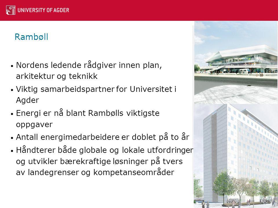 Rambøll Nordens ledende rådgiver innen plan, arkitektur og teknikk