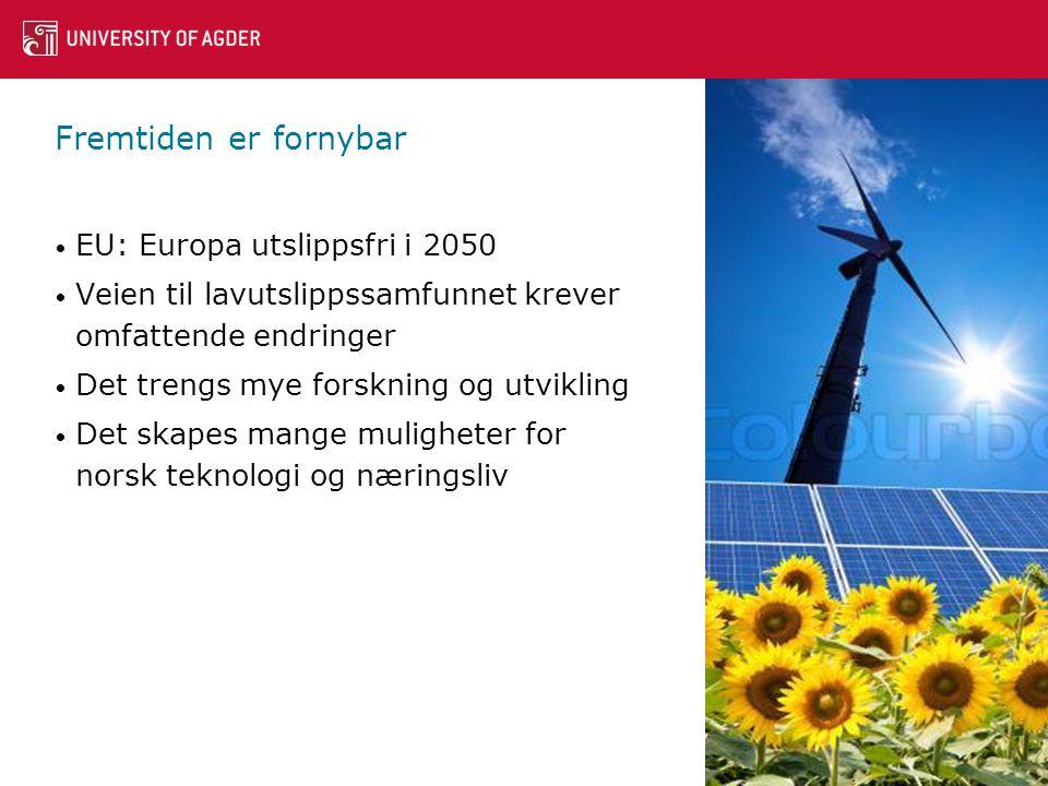 Fremtiden er fornybar EU: Europa utslippsfri i 2050
