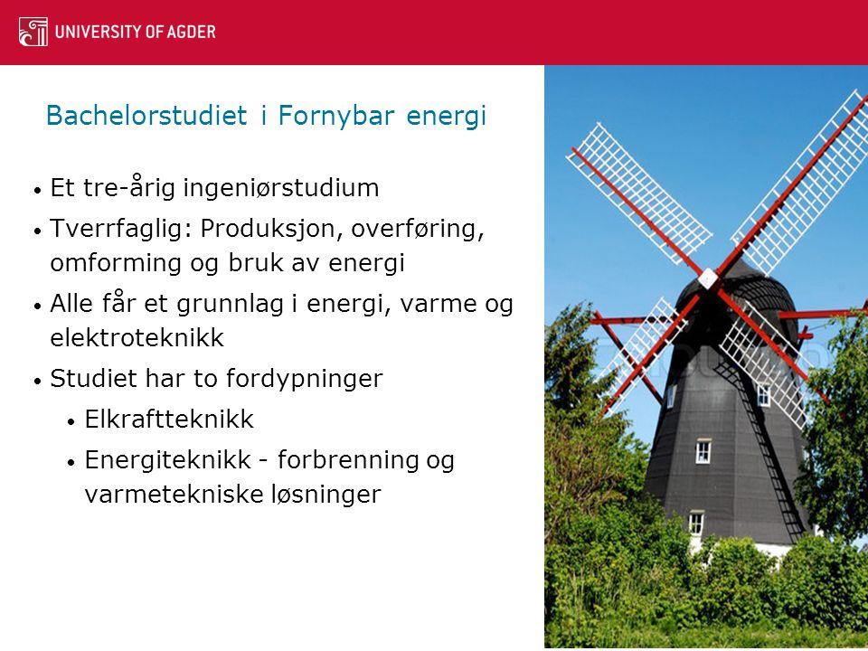Bachelorstudiet i Fornybar energi
