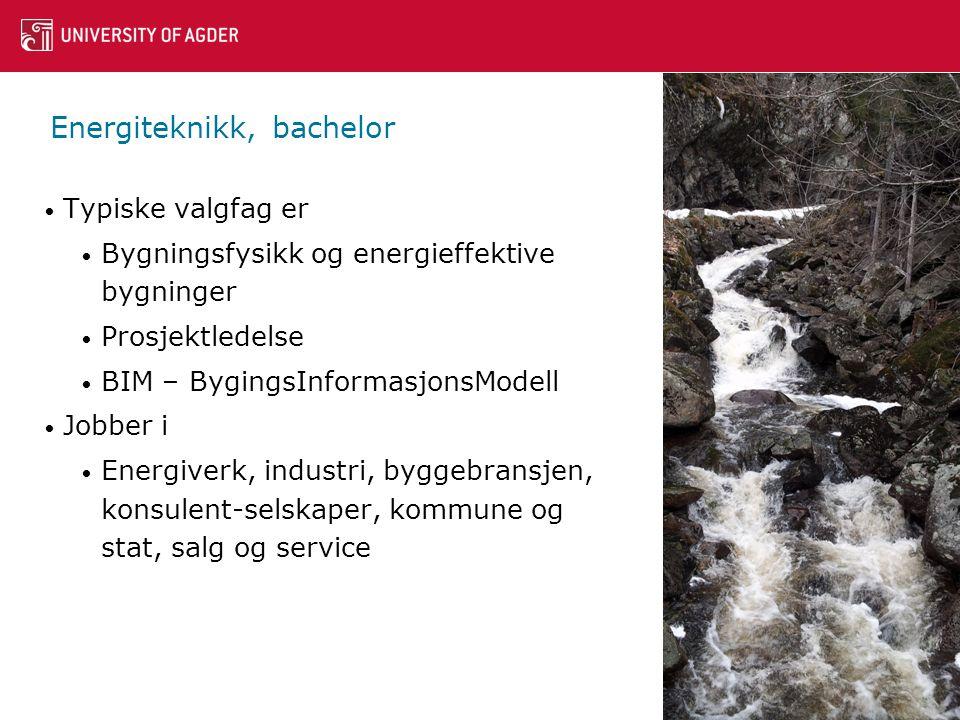 Energiteknikk, bachelor