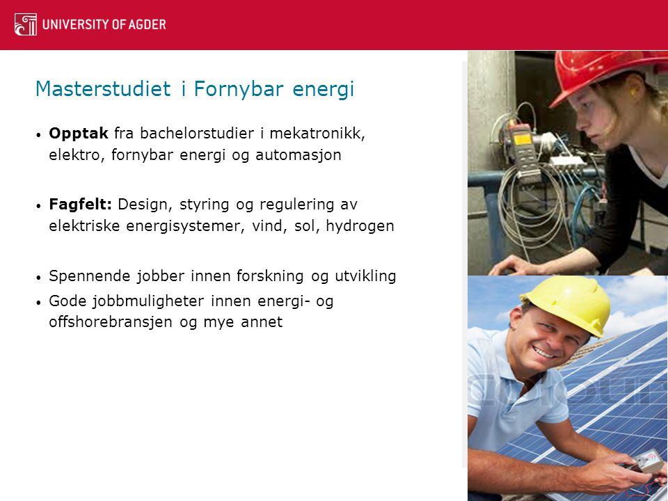 Masterstudiet i Fornybar energi