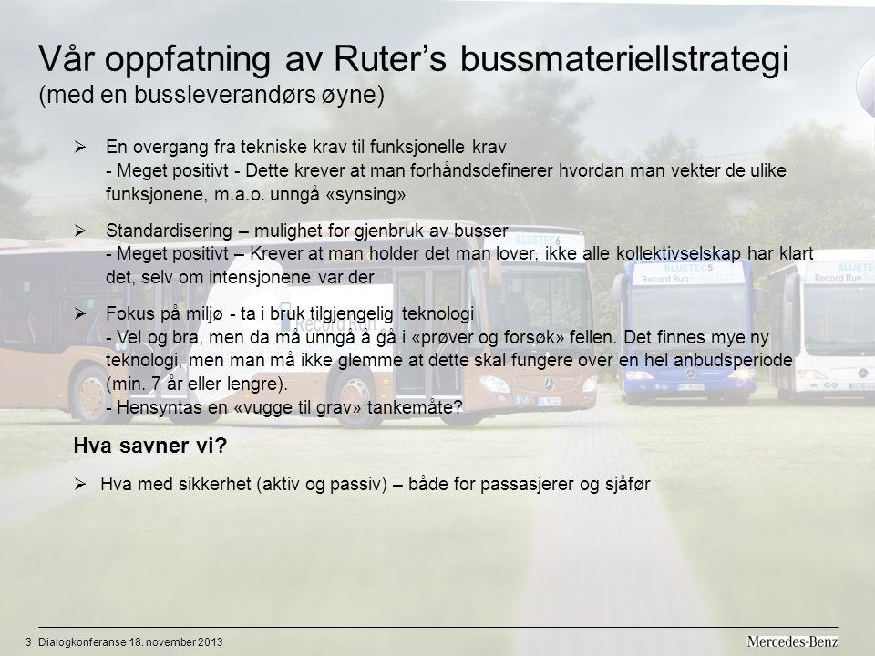 Vår oppfatning av Ruter's bussmateriellstrategi (med en bussleverandørs øyne)