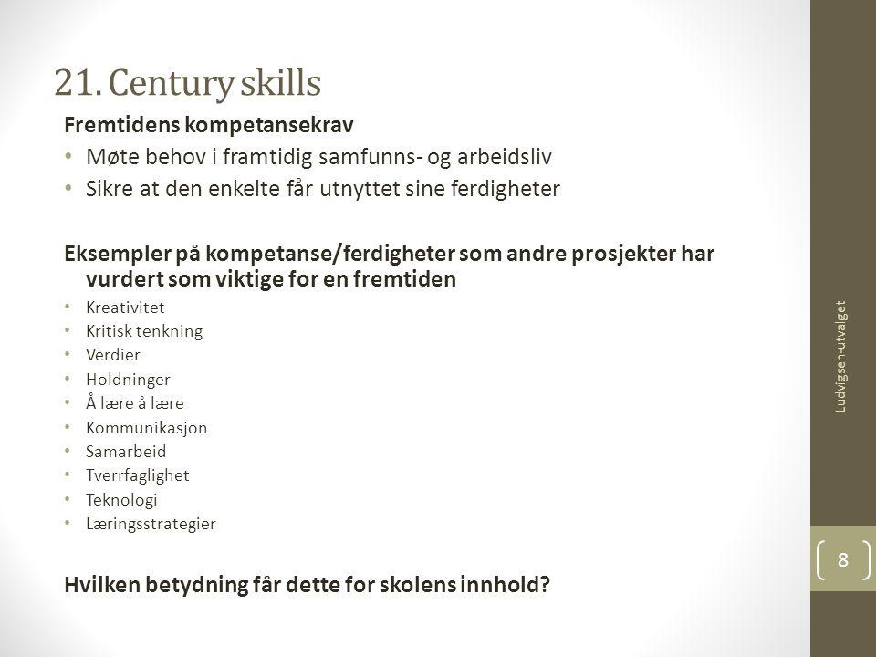 21. Century skills Fremtidens kompetansekrav