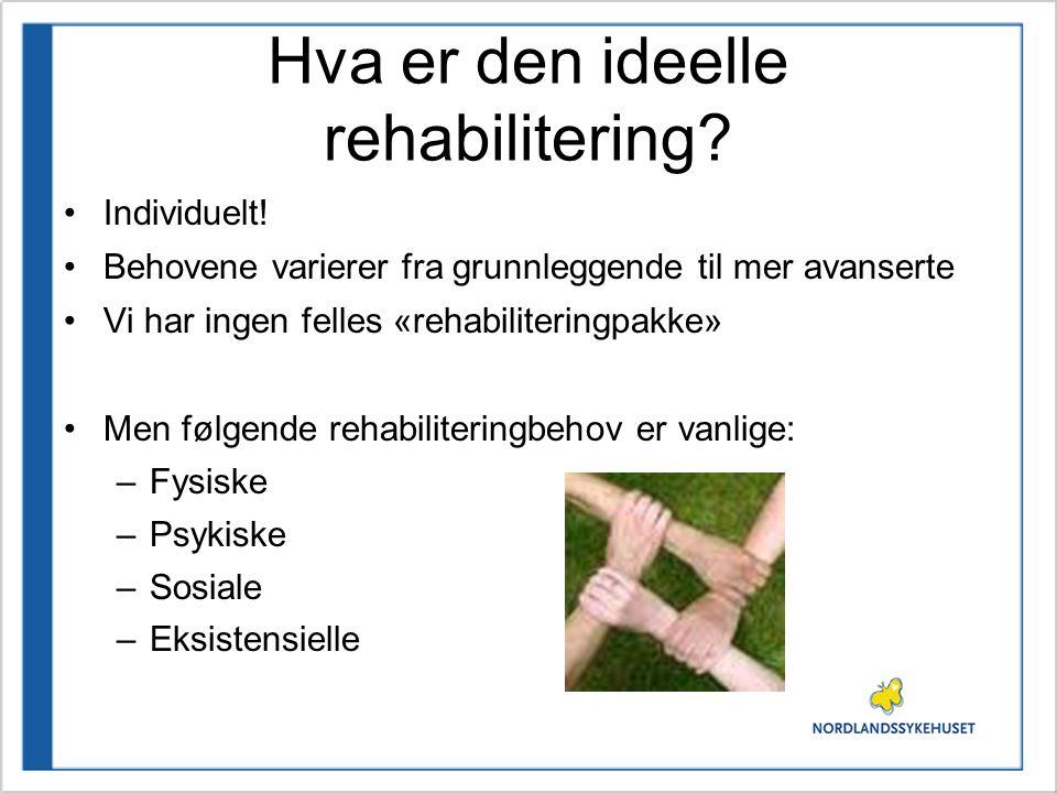 Hva er den ideelle rehabilitering