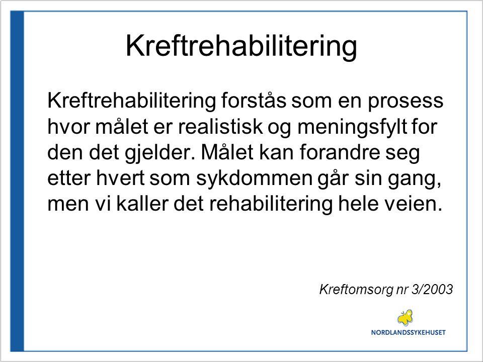 Kreftrehabilitering