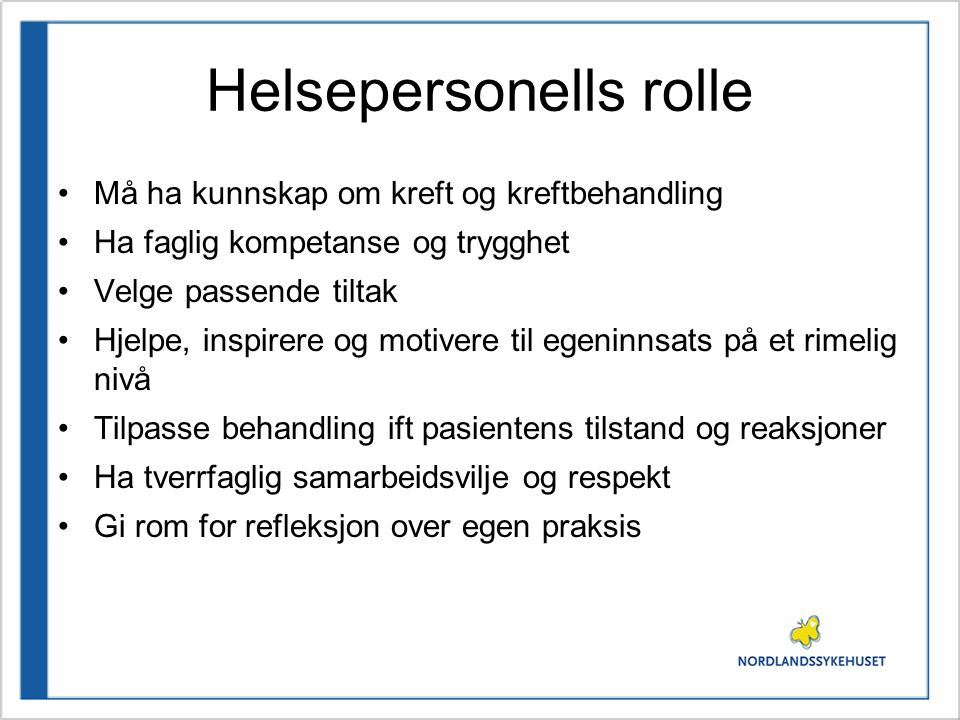 Helsepersonells rolle
