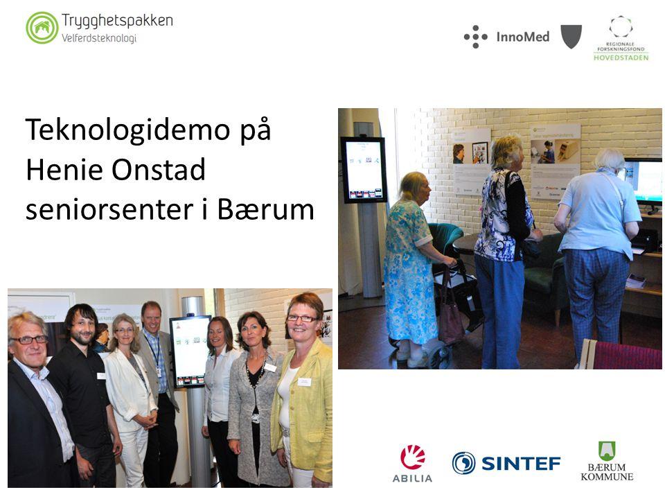 Teknologidemo på Henie Onstad seniorsenter i Bærum