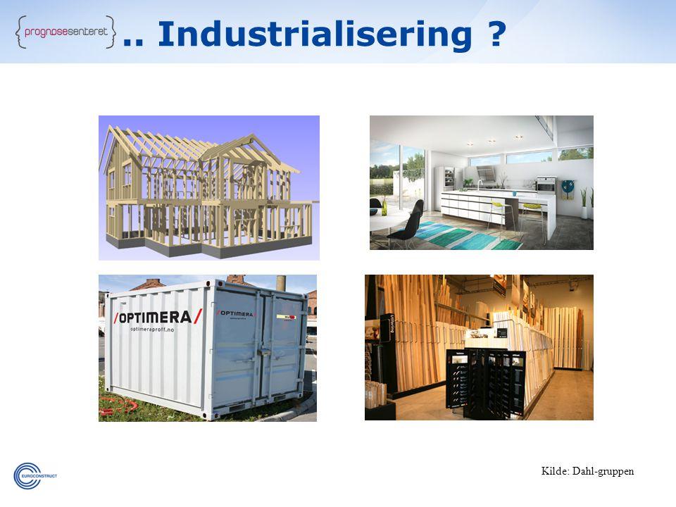 .. Industrialisering Kilde: Dahl-gruppen 34