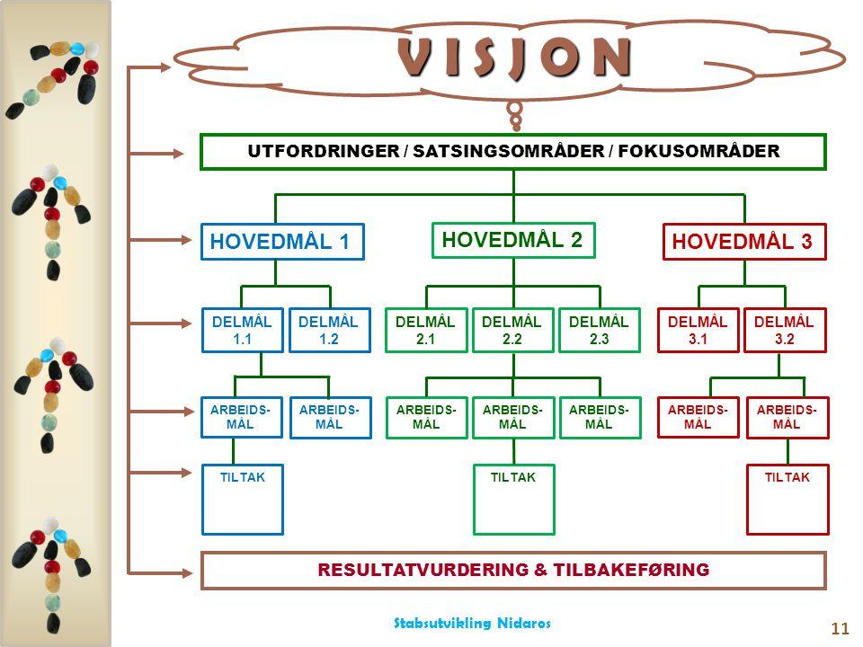 UTFORDRINGER / SATSINGSOMRÅDER / FOKUSOMRÅDER