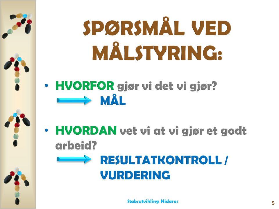 SPØRSMÅL VED MÅLSTYRING: