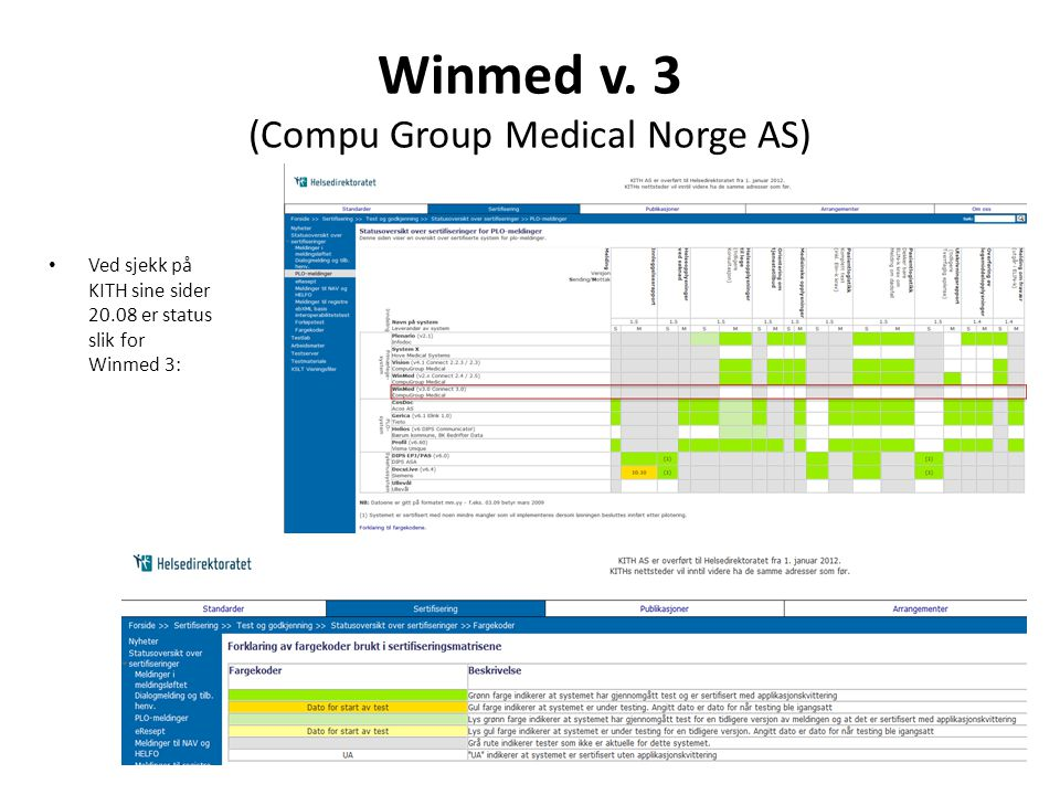 Winmed v. 3 (Compu Group Medical Norge AS)