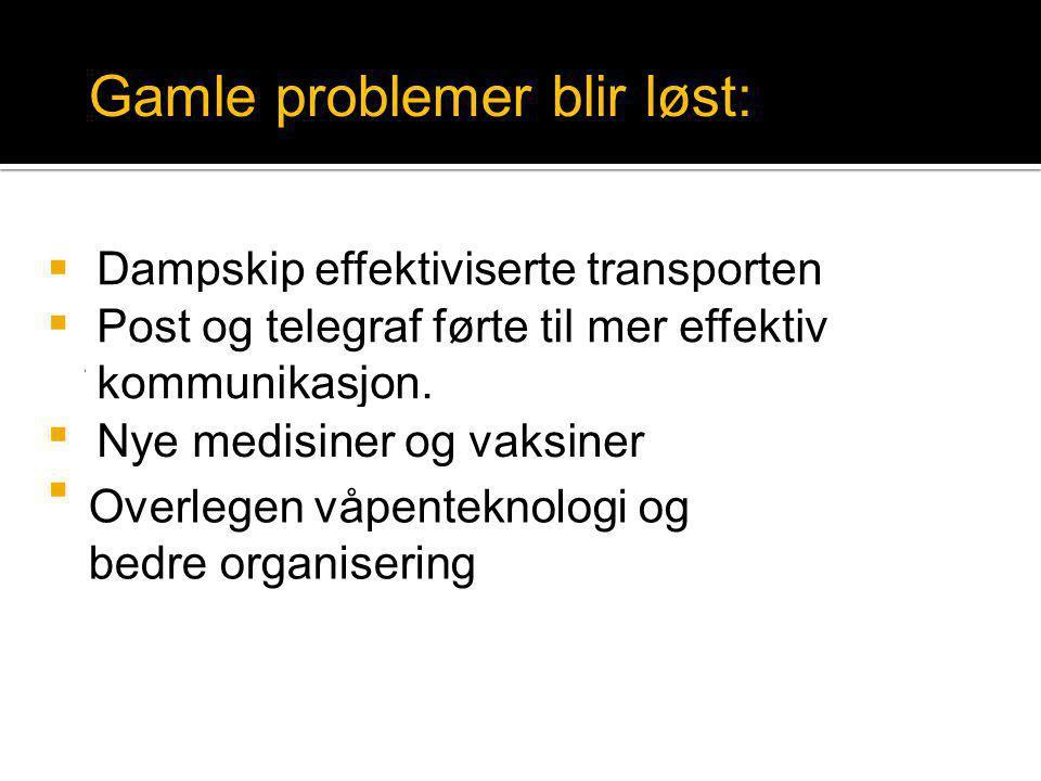 Gamle problemer blir løst: