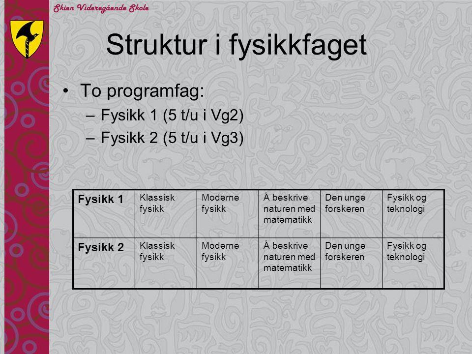 Struktur i fysikkfaget