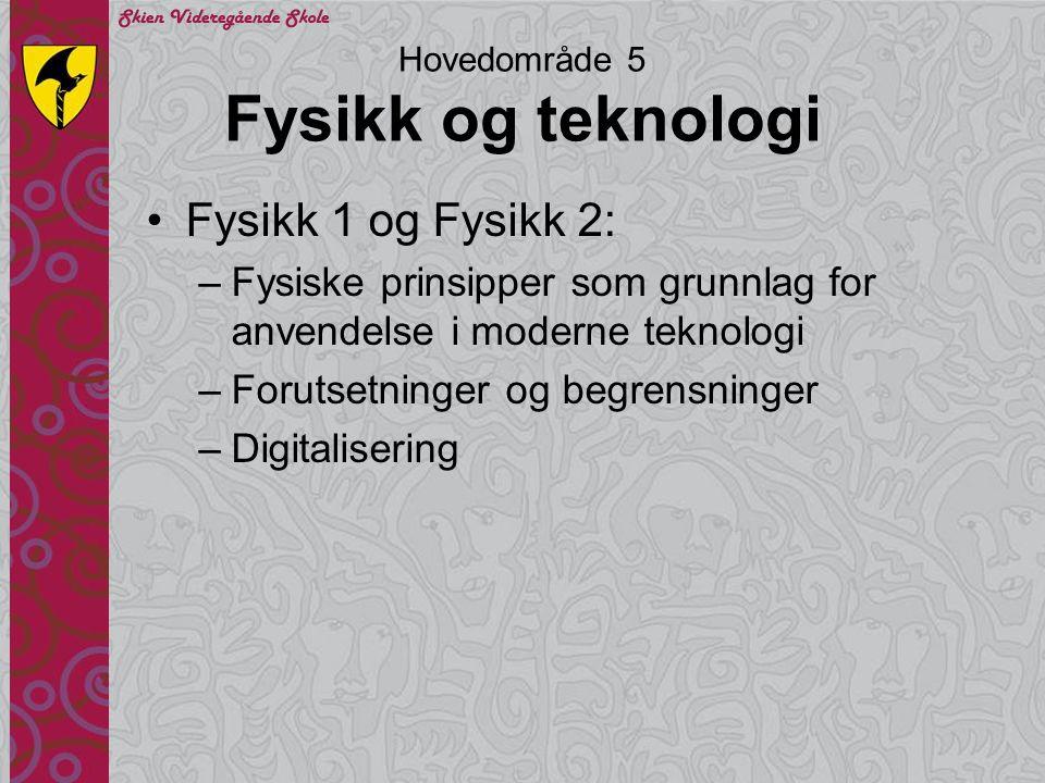 Hovedområde 5 Fysikk og teknologi