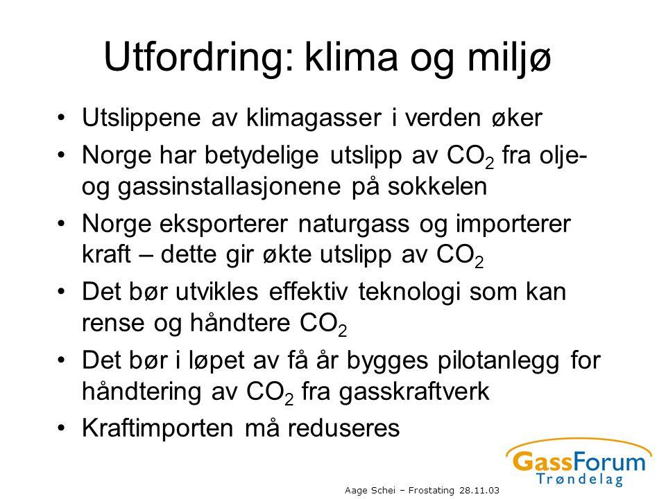 Utfordring: klima og miljø