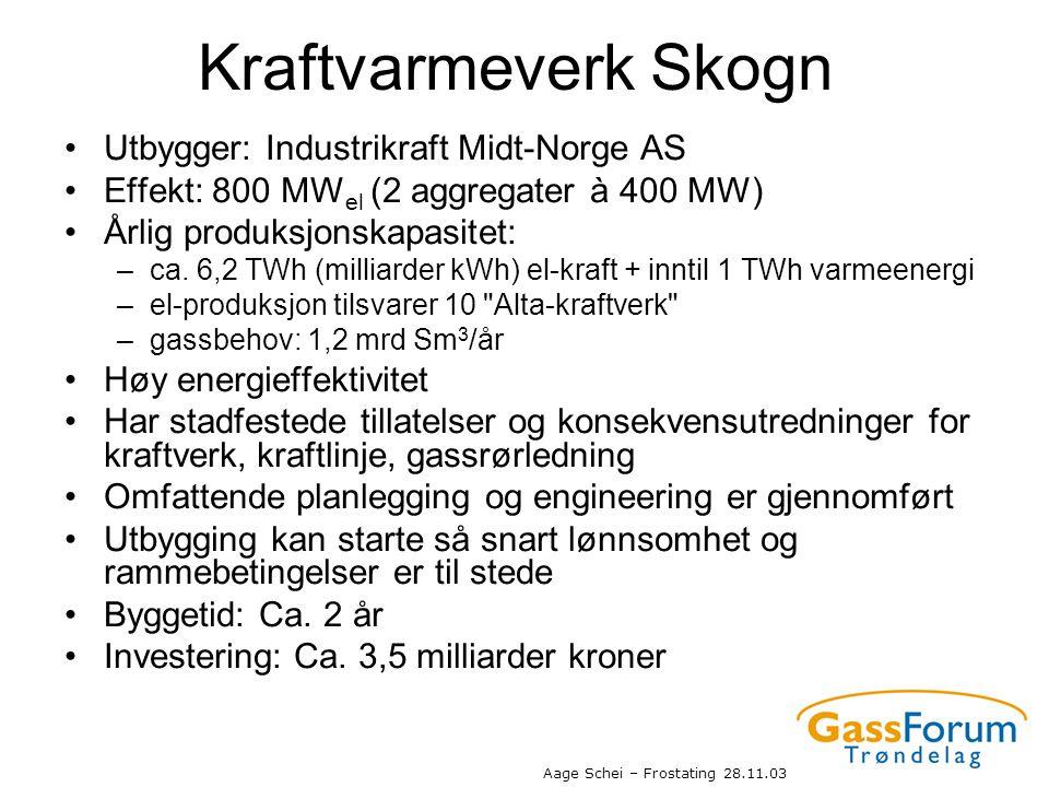 Kraftvarmeverk Skogn Utbygger: Industrikraft Midt-Norge AS