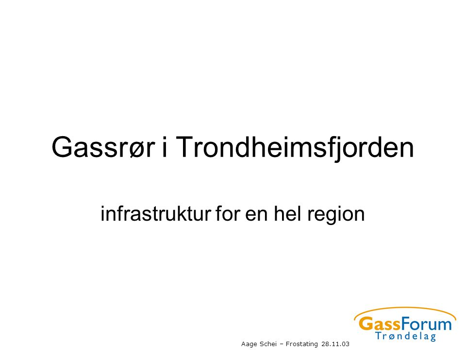 Gassrør i Trondheimsfjorden