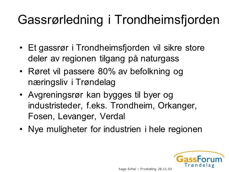 Gassrørledning i Trondheimsfjorden