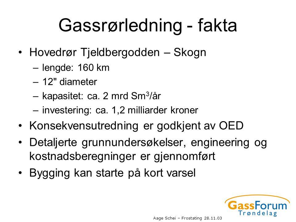 Gassrørledning - fakta