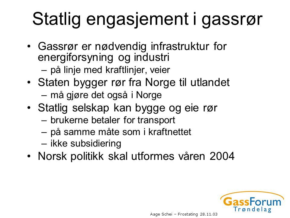 Statlig engasjement i gassrør