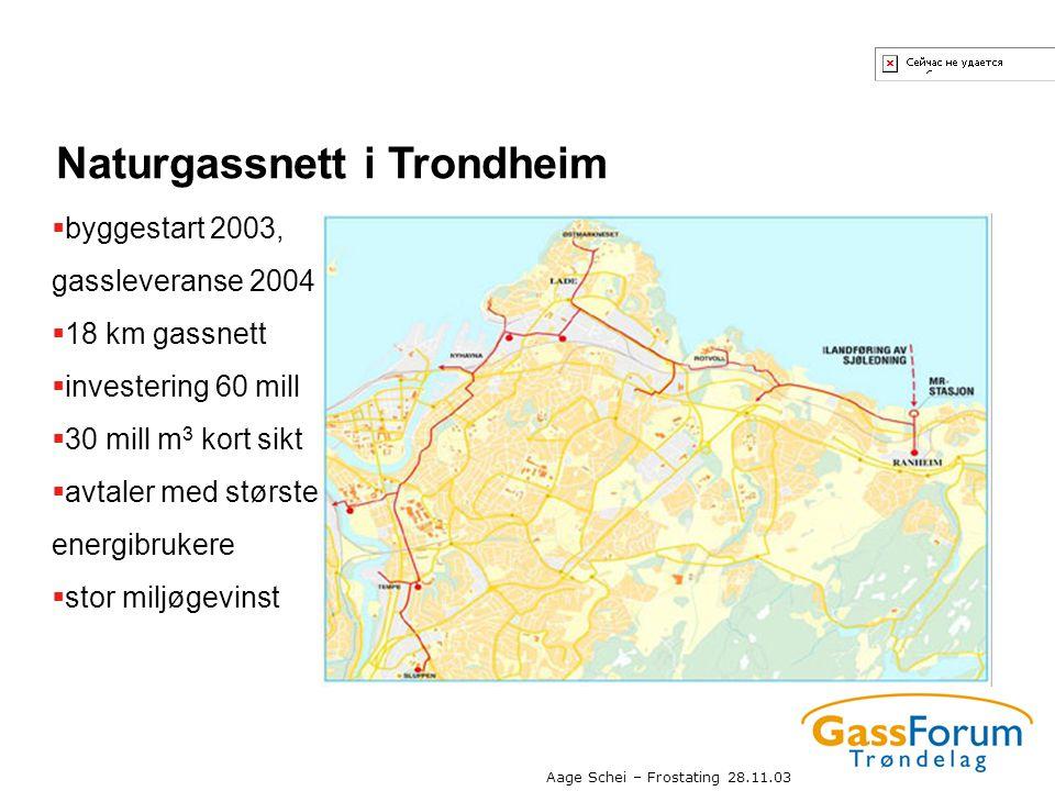 Naturgassnett i Trondheim