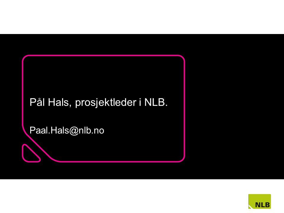 Pål Hals, prosjektleder i NLB.