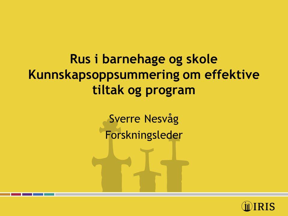 Sverre Nesvåg Forskningsleder