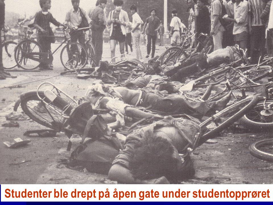 Studenter ble drept på åpen gate under studentopprøret