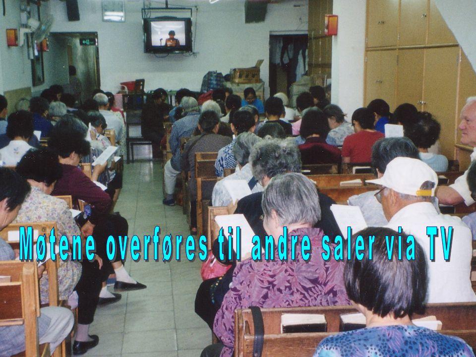 Møtene overføres til andre saler via TV