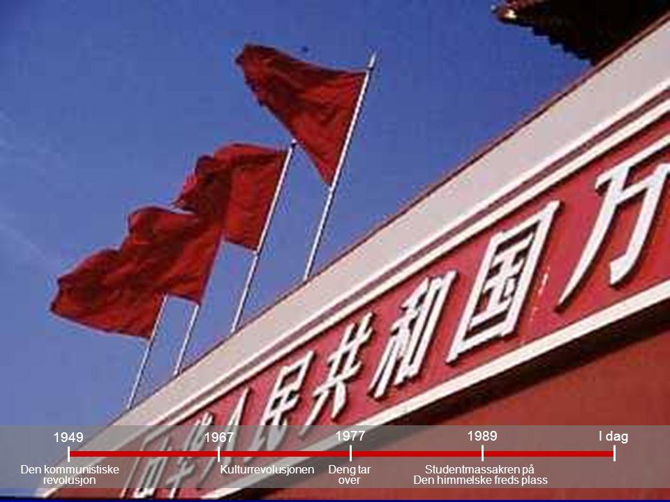 1949 1977 1967 1989 I dag Den kommunistiske revolusjon