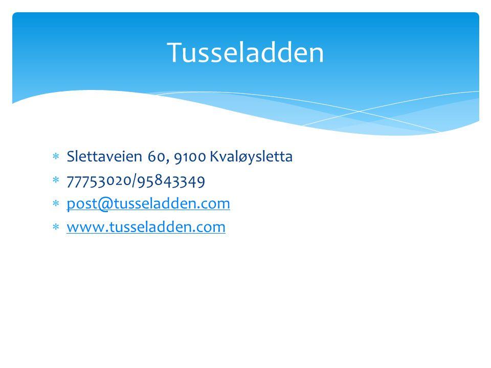 Tusseladden Slettaveien 60, 9100 Kvaløysletta 77753020/95843349