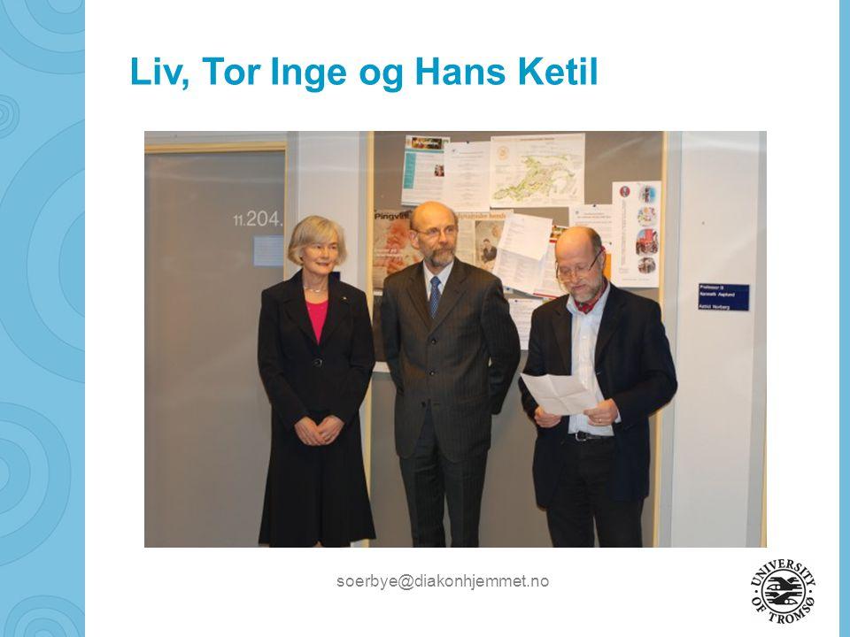 Liv, Tor Inge og Hans Ketil