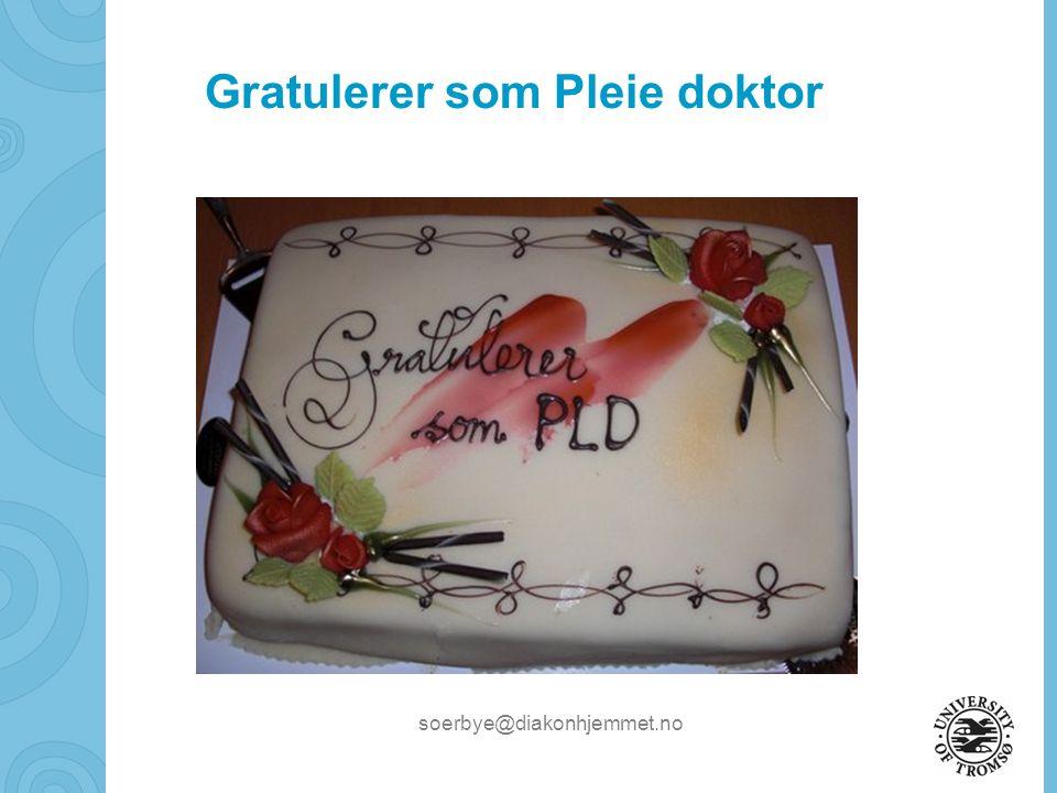 Gratulerer som Pleie doktor
