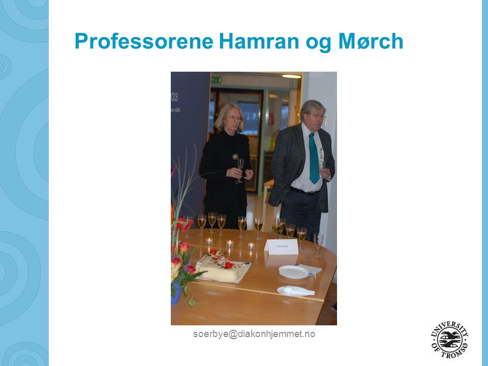 Professorene Hamran og Mørch