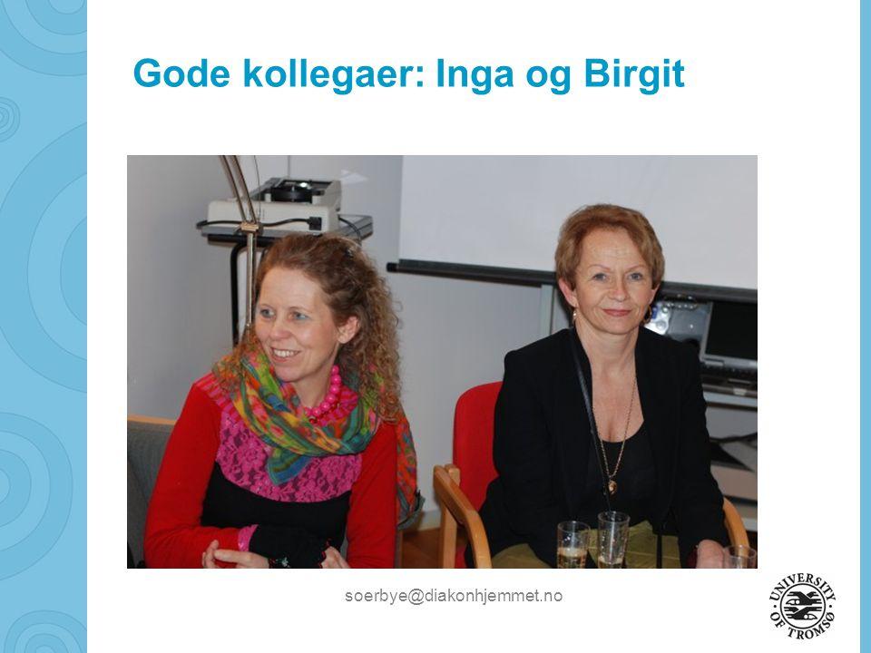 Gode kollegaer: Inga og Birgit
