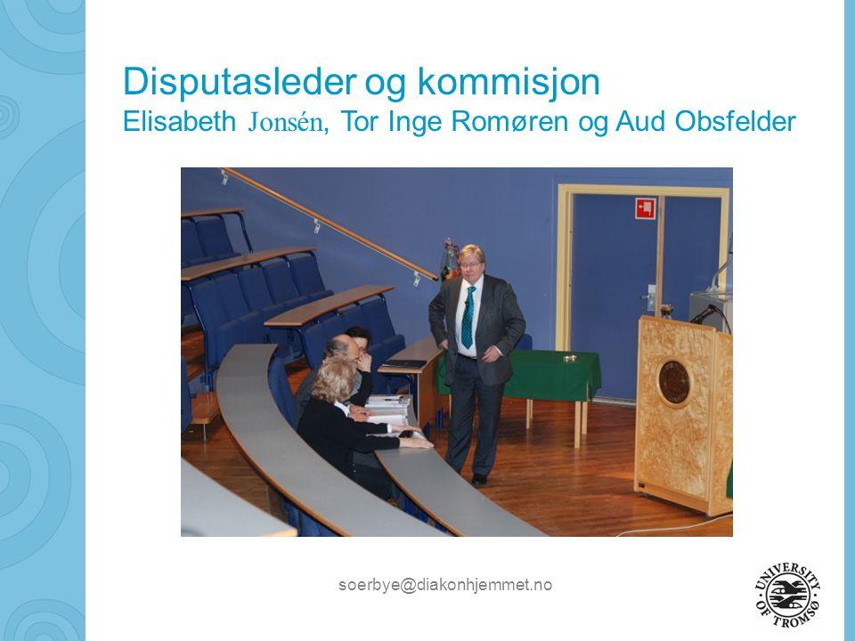 Disputasleder og kommisjon
