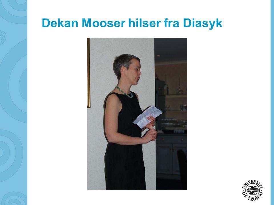 Dekan Mooser hilser fra Diasyk