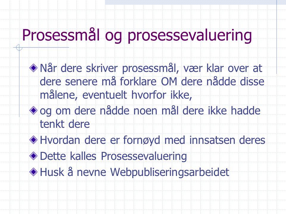 Prosessmål og prosessevaluering