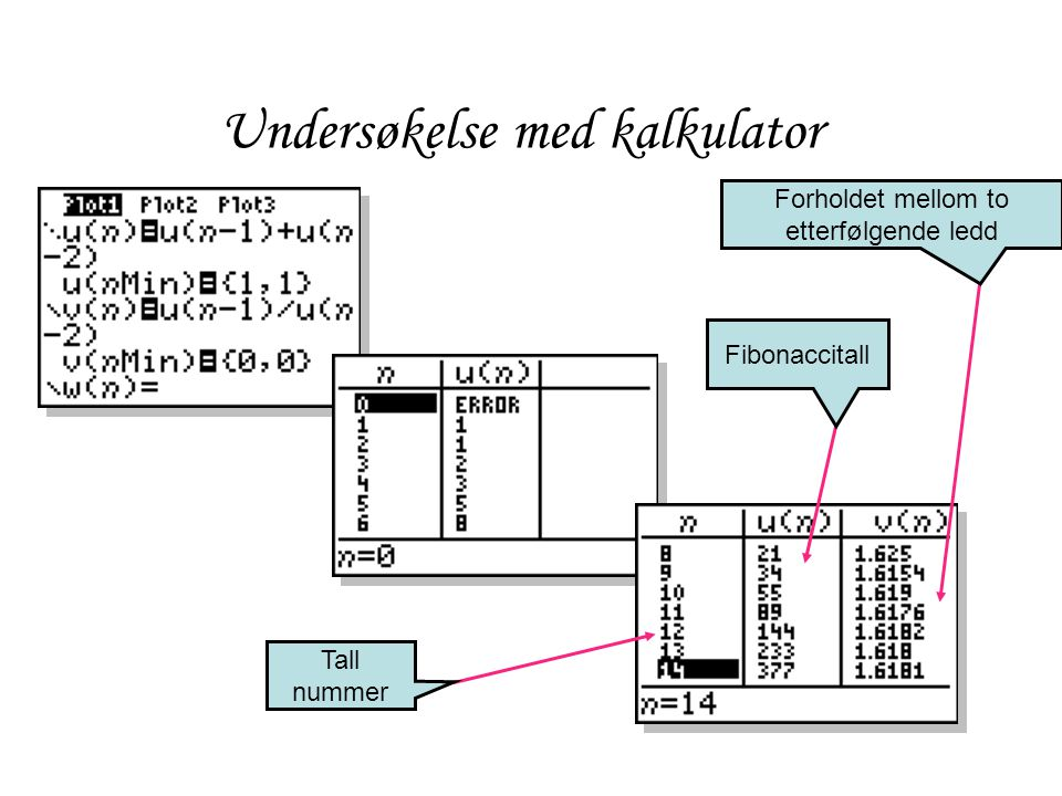 Undersøkelse med kalkulator