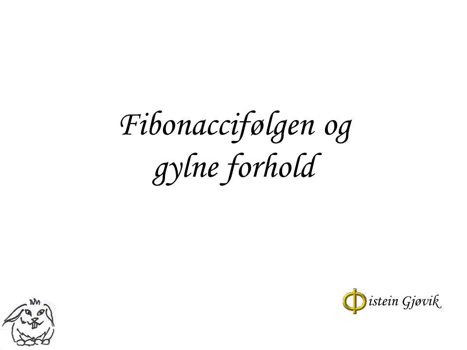 Fibonaccifølgen og gylne forhold