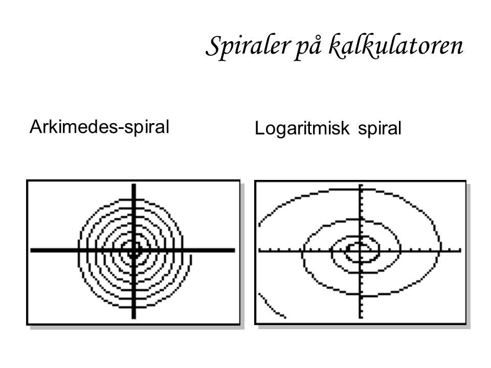 Spiraler på kalkulatoren