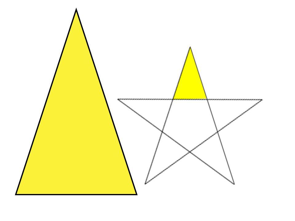 En gyllen trekant: Hypotenus delt på grunnlinje er lik det gylne forhold